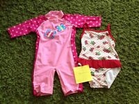 Baby girls swimming suits age 18-24 months