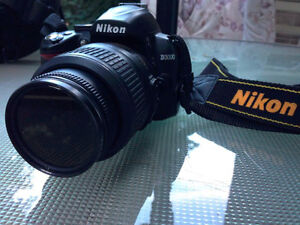 NIKON D3000 10.2 MP DIGITAL SLR Camera WITH LENSES & ACCESSORIES