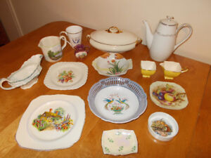 LOT of 12+ VINTAGE BONE CHINA, PORCELAIN WARE and MORE…