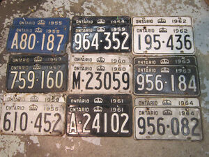 Classic Car License Plates - Pairs for Antique Vehicles Displays