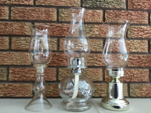 Oil lamp and oil lamp look candle holders