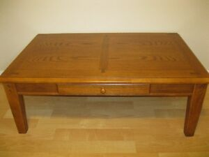 Dark Oak Coffee Table and 2 end tables