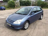 "2002 HONDA CIVIC SE CTDI 1.7 ""JUST PASSED MOT TODAY ""TOW-BAR £1000 TRADE IN WELCOME"