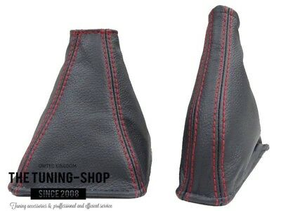 Shift & Ebrake Boot For Lexus IS220 2005-13 Leather Red Stitching