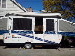 Jayco pop up trailer is up for sale.
