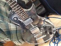 Wesley Acrylic Les Paul style guitar