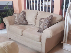 For SALE - MATCHING BEIGE SOFA AND LOVE SEAT