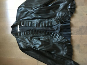 Laura Petite Size 4 Faux leather jacket NWT