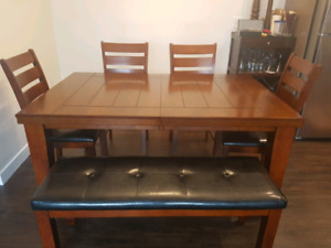 Solid wood table seats 8
