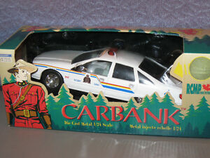 RARE First Choice RCMP Police Car Diecast Metal Coin Bank 1:24