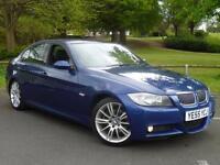 2005 55, BMW 330i 3.0 auto M Sport saloon + LE MANS BLUE + 1 PREV OWNER