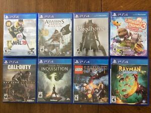 8 PS4 Games -- $500 worth, asking only $100