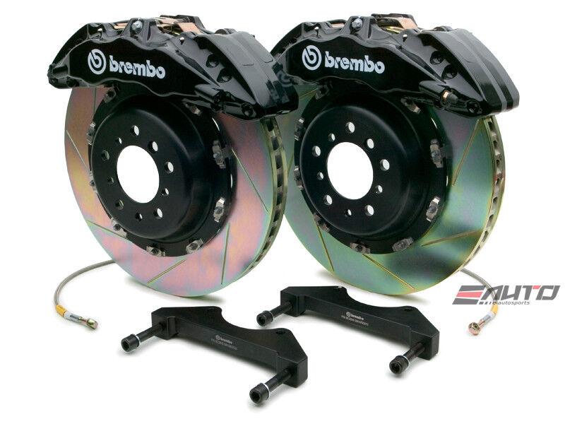 Brembo Front Gt Brake Bbk 6piston Black 380x34 Slot Disc Rotor F150 2wd 09-13