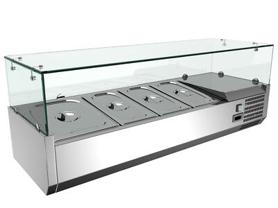 Intbuying 48 Sandwichpizza Prep Table Stainless Steel Refrigerated Kitchen