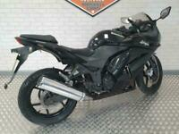 2009 Kawasaki Ninja 250 in black.