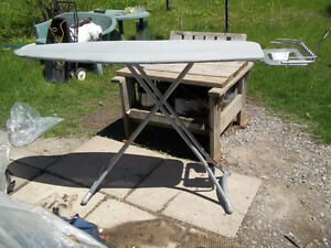 Very Good Condition: Adjustable Height Ironing Board, Iron Stand