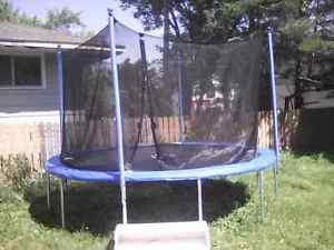 12 foot trampoline with enclosure purchased june 30