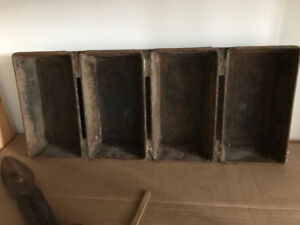 vintage 4 loaf bread baking trays