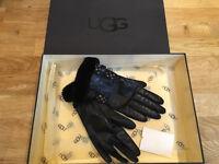 Ladies UGG leather gloves.