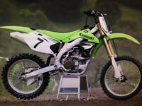 2008 KLX 450R WITH KX450F PLASTICS ON IT