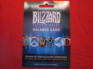 $100US(128CAD) Blizzard Entertainment Balance Card for $75CAD