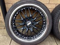 """17"""" Ford Fiesta Alloys 4x108/100 with almost new tyres"""