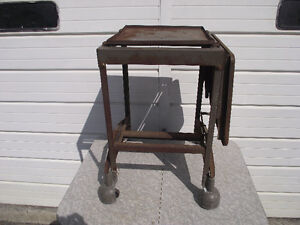 Vintage Industrial Fold out Lab/Typewriter Table