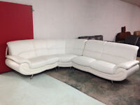 BRAND NEW DAZZLING WHITE SECTIONAL