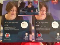 ACCA P1 text book, revision kit and pass cards BPP used