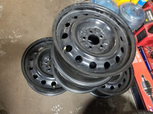 Almost new steel rims size 16