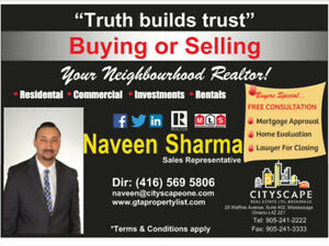 Real Estate Services - for all enquiries call/text 416-569-5806