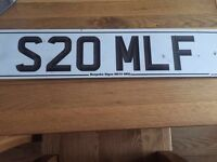Private registration plate