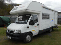 CI Riviera 171 Living 5 Berth Motorhome. 4 Travelling Seat Belts.Over Cab Bed