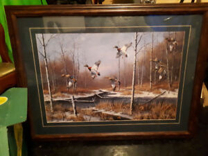 2 framed prints of Canadian wildlife