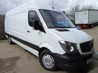 MERCEDES SPRINTER VAN 2.1TD 313 CDI LWB EXTRA HIGH ROOF 2014 FSH NEW SHAPE VGC
