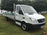 Mercedes Sprinter 313 3.5T XLWB Extra Long 6m., 19ft 10ins Load Length Dropside