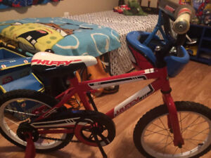 Kids bike and helmet