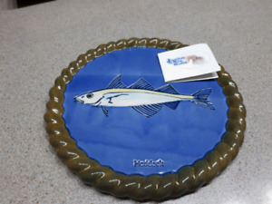 Fish stoneware trivet for the stove or a hot pan or plate$15