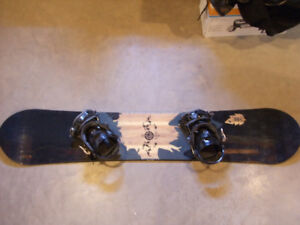 LTD Oracle 152 snowboard with LTD bindings