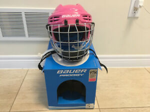 Bauer Prodigy Halmet with cage - Pink