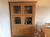 Light oak Dresser display cabinet