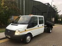2014 Ford Transit 350L Doublecab Cage Tipper Manual Tipper