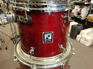 Sonor S-Class Maple Shell Drum Kit-Batterie acoustique 10-12-13-16ft-22 rouge/red - used-usagée
