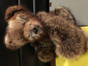 Real Fur Country Fur Hair Jointed Bear Decoration Collection
