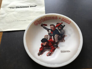 Norman  Rockwell Collector Christmas Plate - 2002