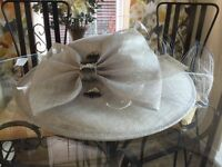Grey Pewter Hat, Mother of the bride.