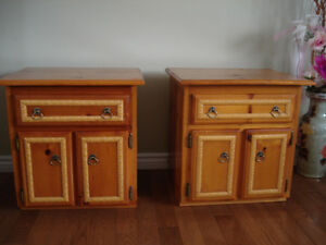 Nicely decorated two side tables/night stands