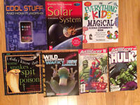 7 -science experiments, solar system, comics, and more