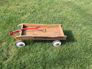 """Wooden """"Little Red Wagon"""""""