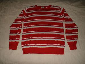 Chandail de coton Lacoste rouge neuf